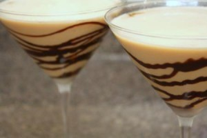 godiva chocolate martini with chocolate syrup