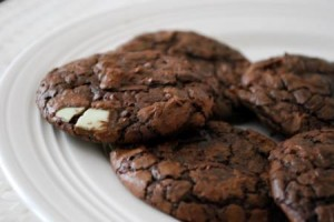 double chocolate and mint cookies