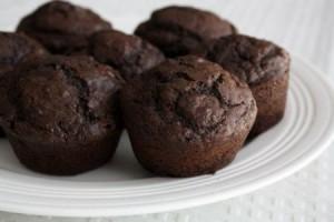 chocolate chocolate chunk muffins