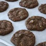double chocolate chunk peanut cookies