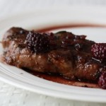 steak with blackberry red wine sauce