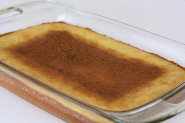 italian orange cake, still in the pan