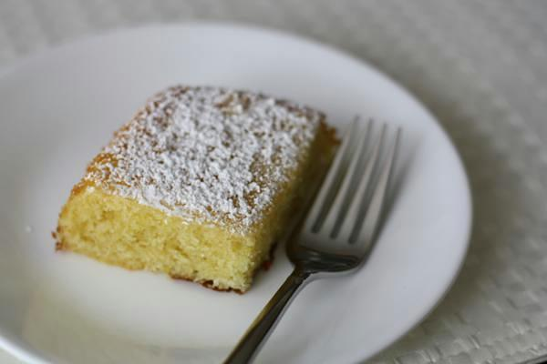 slice of italian orange cake