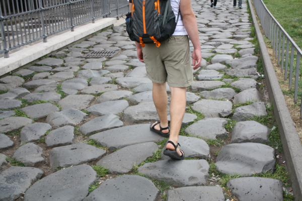 cobblestones in Rome