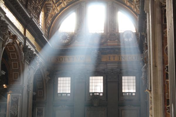 St. Peter's morning light