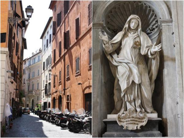 rome street and vatican sculpture