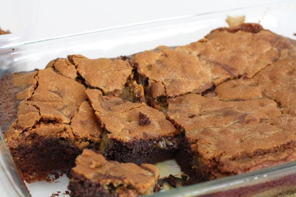 cookie topped brownies