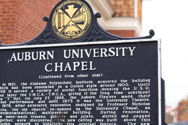 auburn chapel sign
