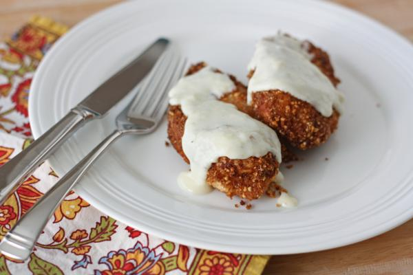 nut crusted fried chicken