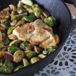 chicken with bacon and brussels sprouts