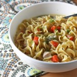 creamy greek chicken noodle soup