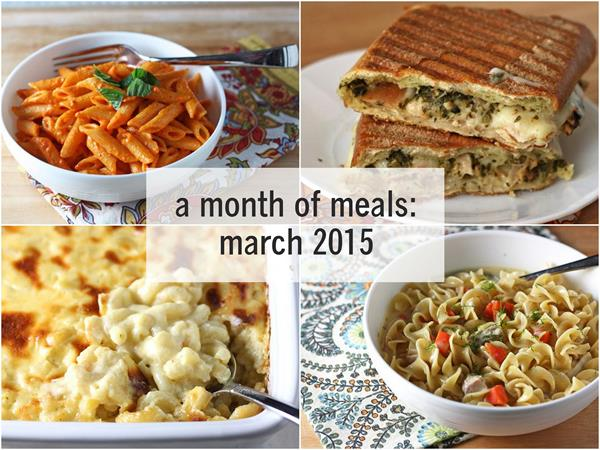 a month of meals--march 2015