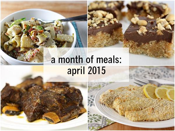a month of meals--april 2015