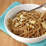whole wheat pasta with roasted cauliflower {feasting & fasting}