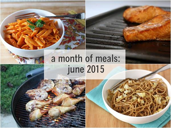 a month of meals june 2015