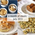 a month of meals {july 2015}