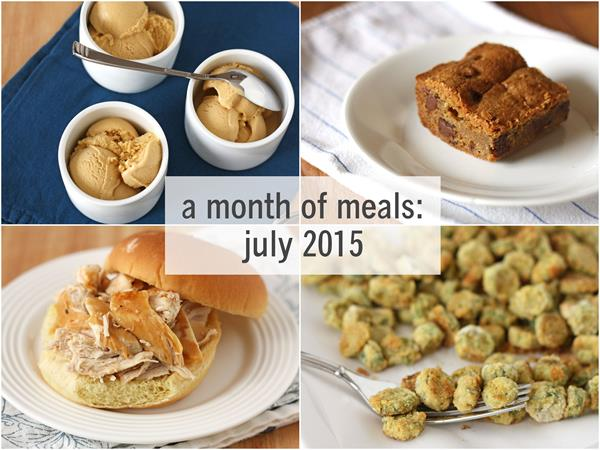 a month of meal: july 2015