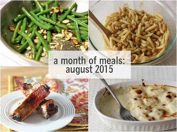 a month of meals: august 2015