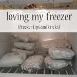loving my freezer {freezer tips and tricks}