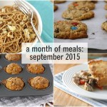 a month of meals {september 2015}