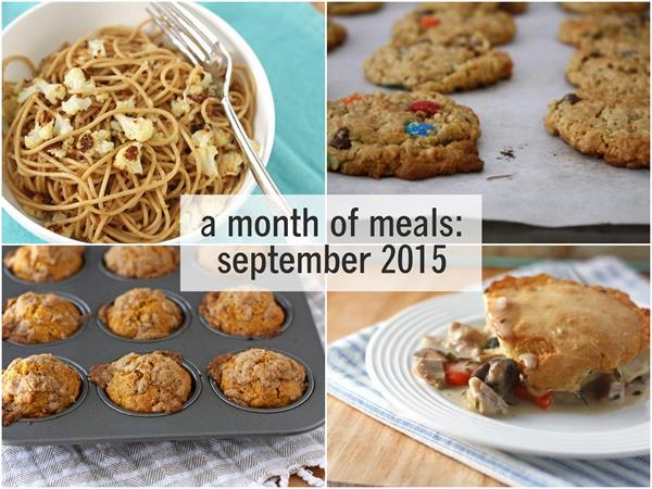a month of meals september 2015