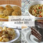 a month of meals {october 2015}