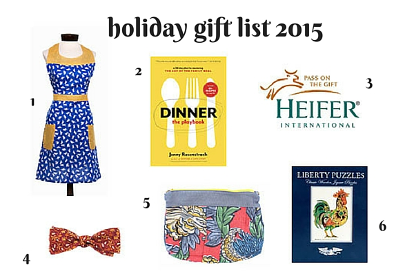 holiday gift list 2015