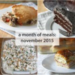 a month of meals {november 2015}