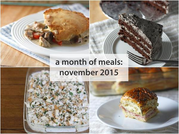 a month of meals november 2015