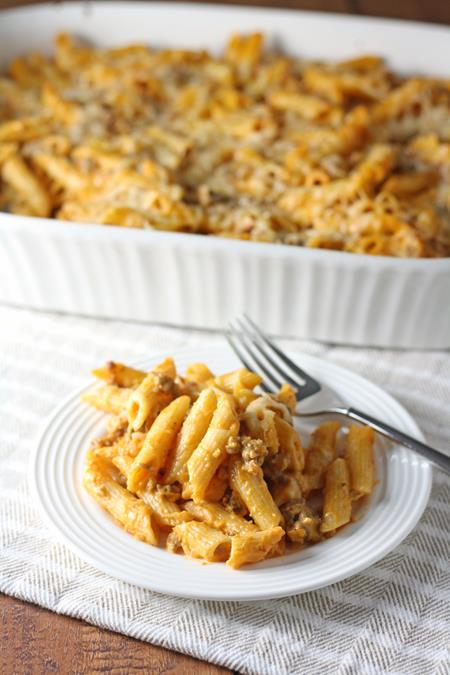 butternut squash and sausage baked pasta